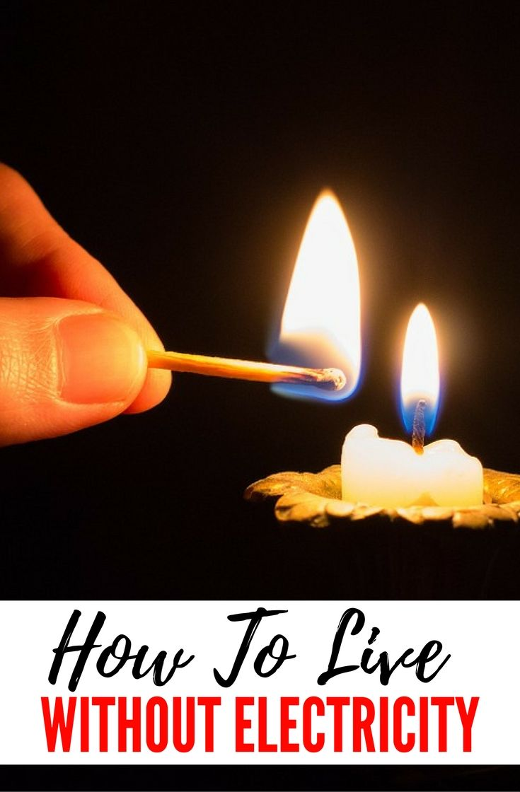 How to Live without Electricity advise