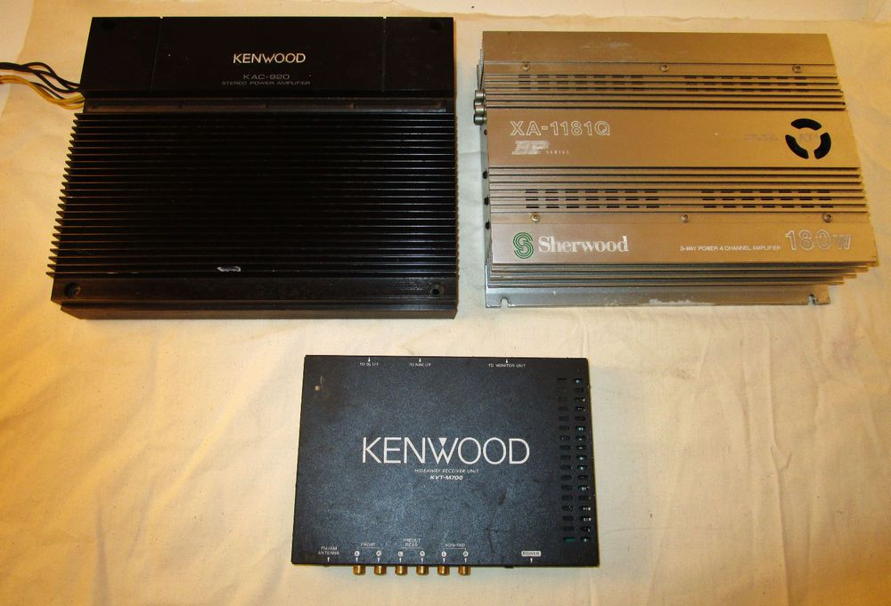 Kenwood Car Amplifier Kac 920 Kvt M700 Sherwood Xa 1181q
