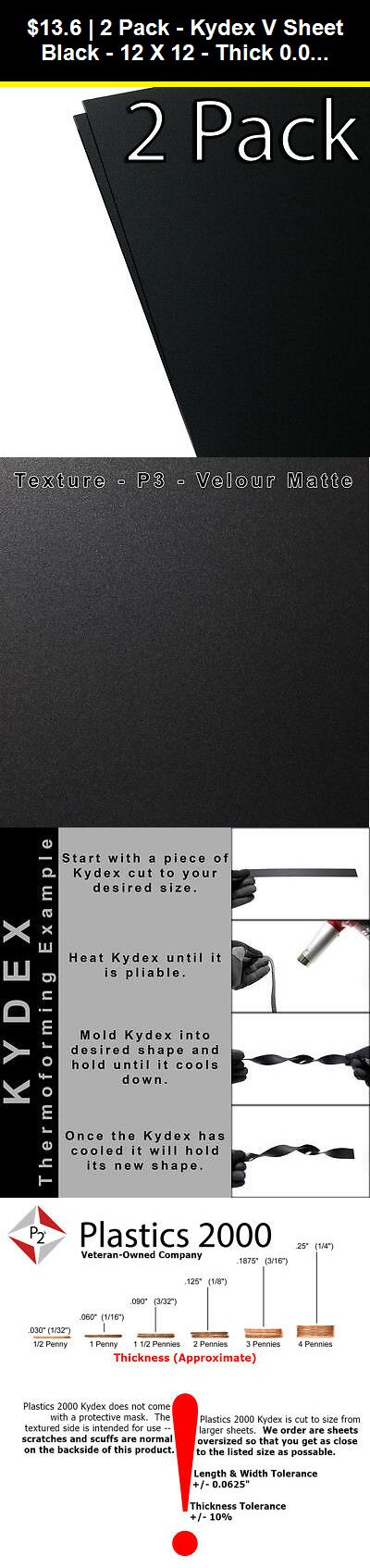 Other Art Supplies 16508 2 Pack Kydex V Sheet Black 12 X 12 Thick 0 060 Plastics 2000 Buy It Now Only 13 6 On Ebay Othe Kydex Kydex Sheet Sheet