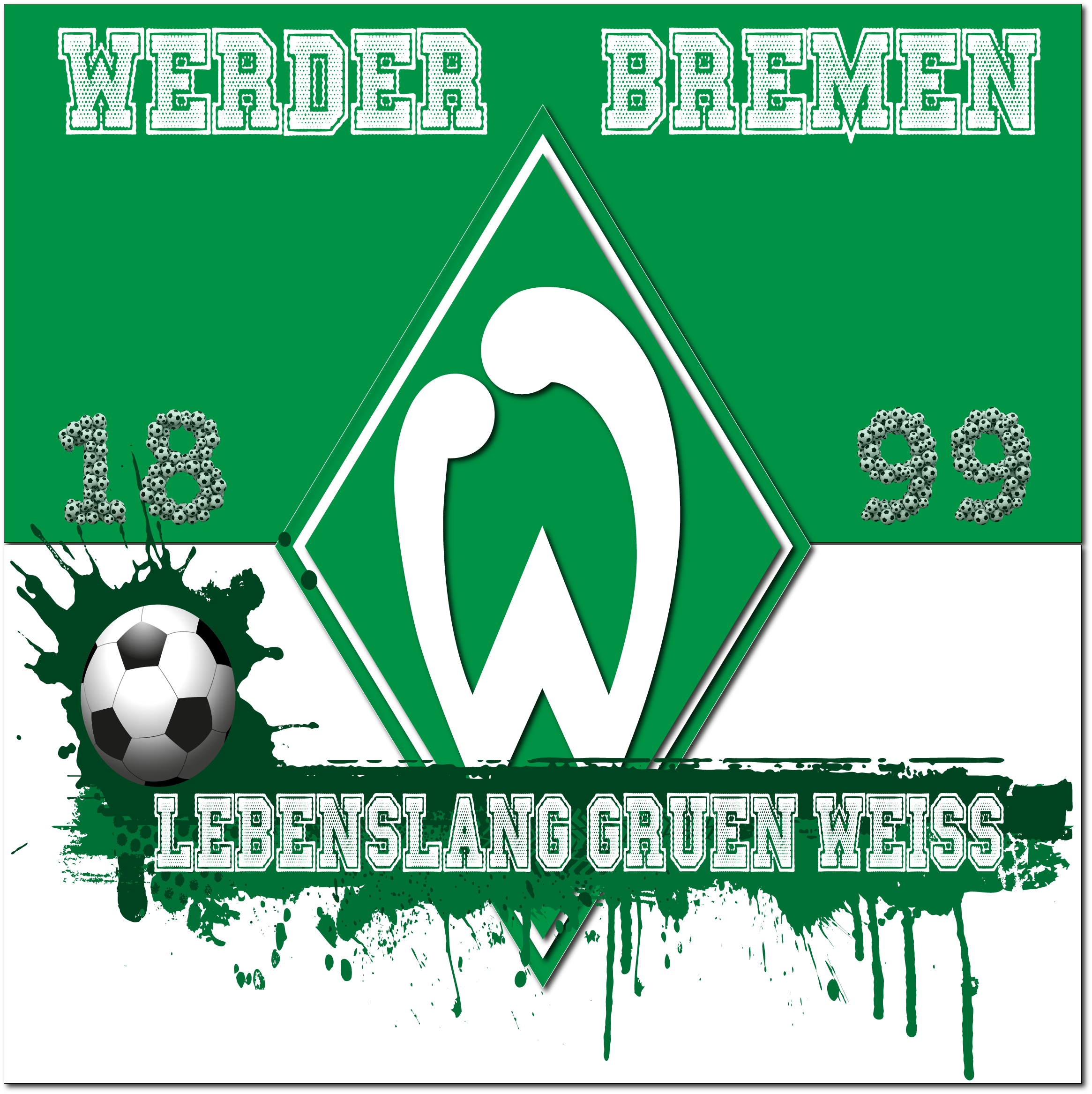 Werder Bremen Bremen Werder Bremen Grun Weiss