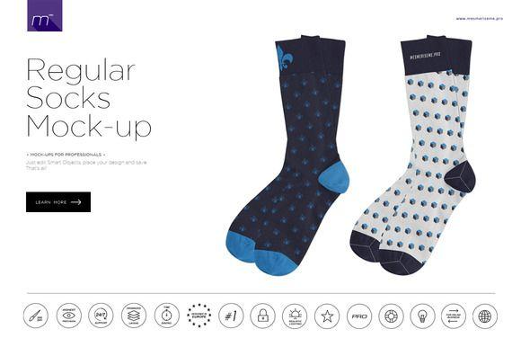 Download The Regular Socks Mock Up