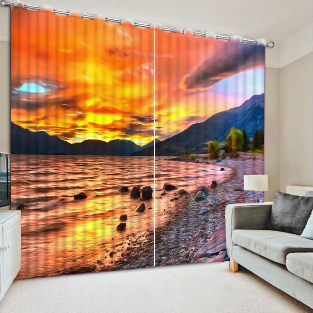 Noennamenull newest d printing curtains quality blackout cortians