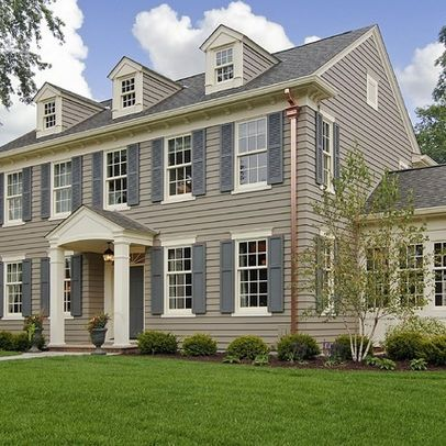 Exterior Photos Colonial Portico Design Ideas, Pictures, Remodel, And Decor    Page 5
