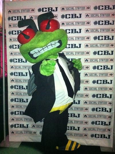 Stinger even dressed up for the Black Tie Blue Jackets Style Show - 02/27/2013 - Columbus Blue Jackets - Photos