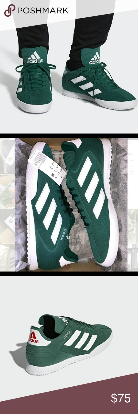 outlet store 4399e 886ce Adidas Copa Super Shoes B37086 COPA SUPER SHOES Clean and classic, these  shoes push soccer style off the field with a synthetic and leather upper  featuring ...