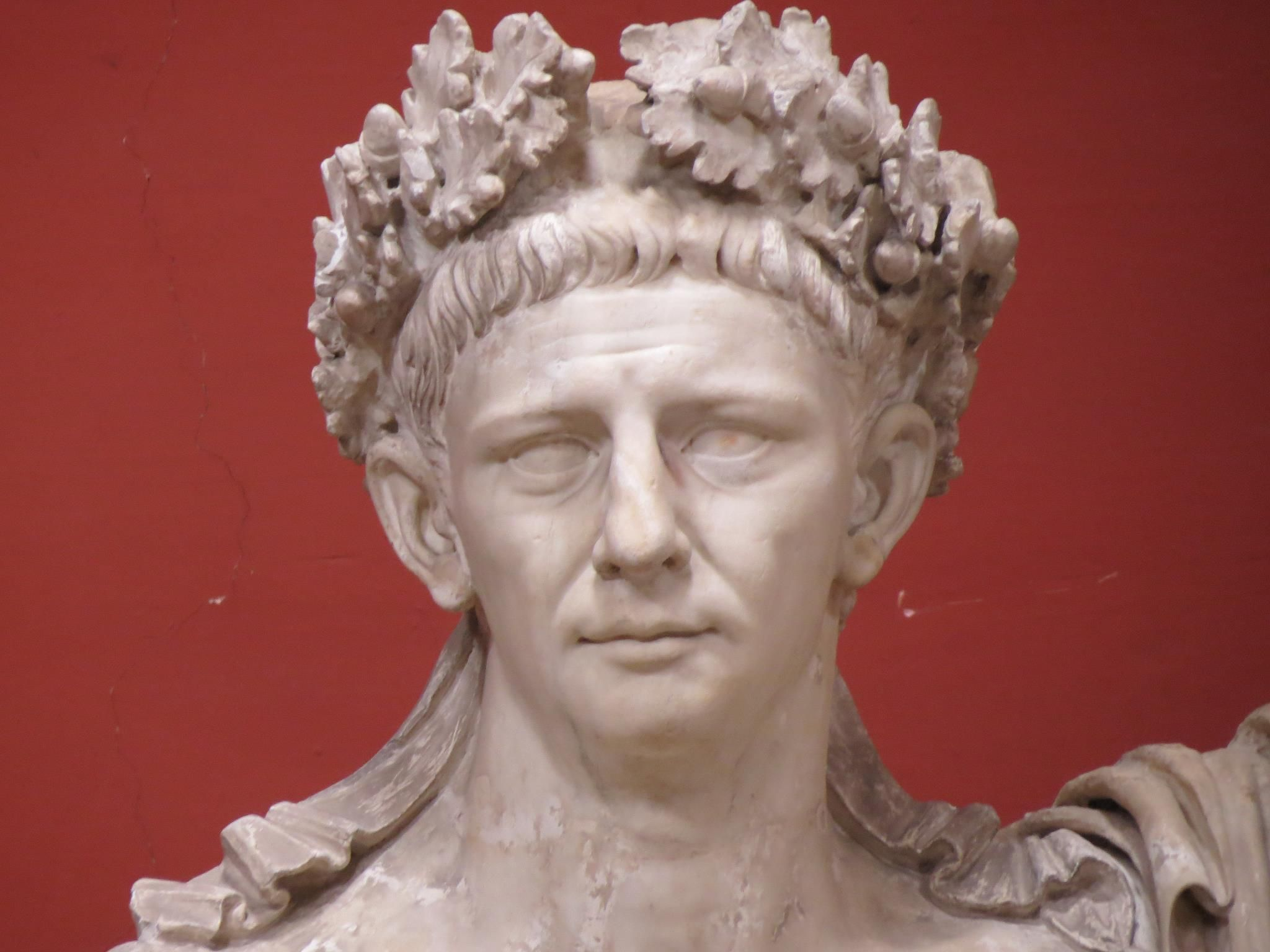 Marble bust of the Emperor Claudius, the roman emperor who successfully invaded Britain