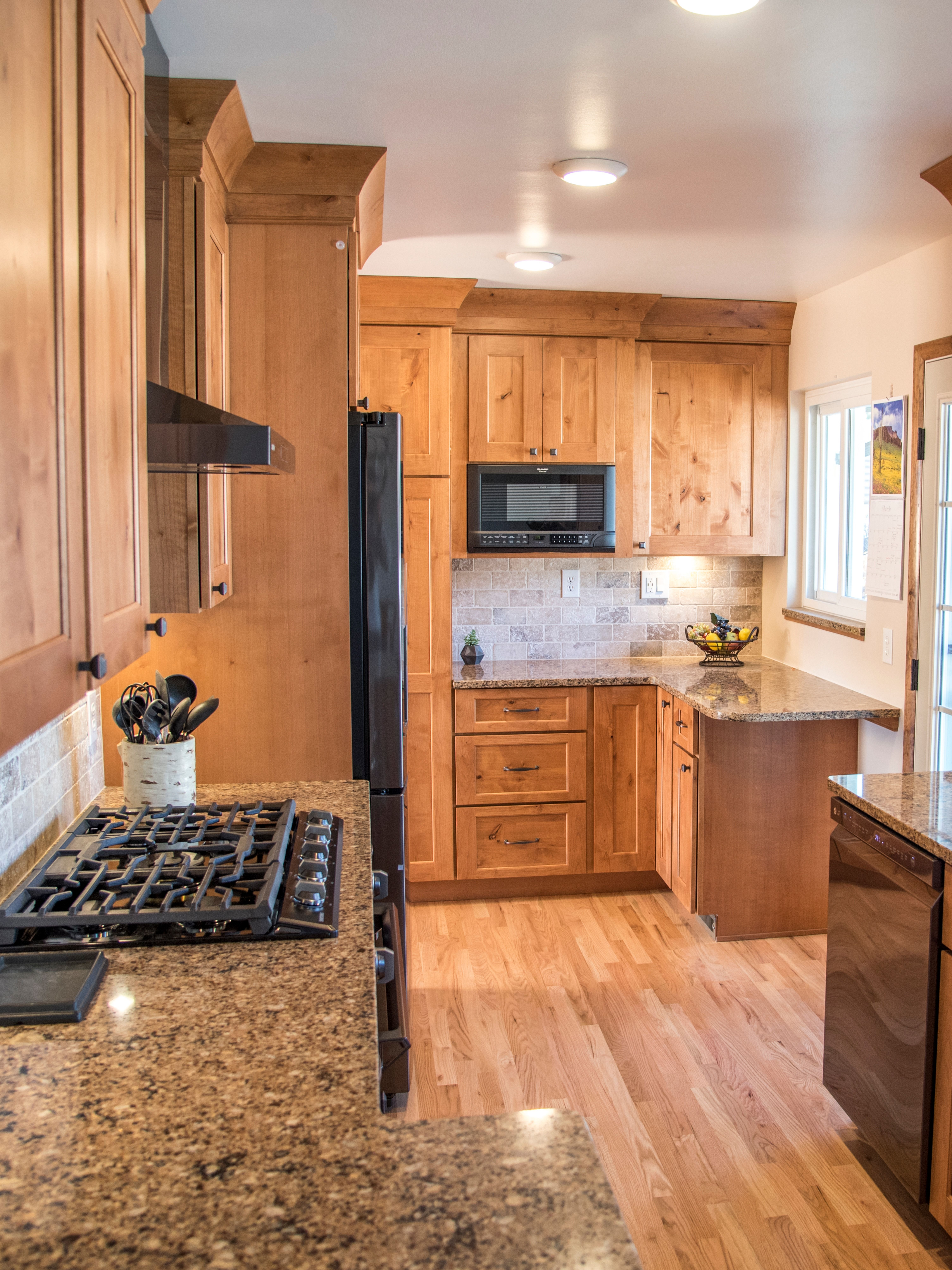 This All Wood Kitchen Features A Take On The Cabin Look Of