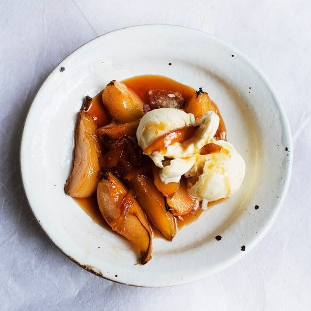 Sticky situation marmalade pears with vanilla ice cream english recipes forumfinder Choice Image