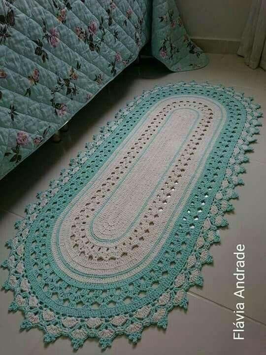 Pin de Lynn Lawson en Crochet Rugs | Pinterest | Tapetes, Caminos de ...