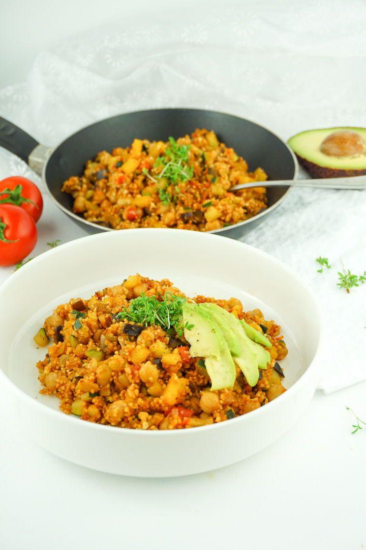 Cous Cous Gemüse Pfanne - Gesundes, veganes Rezept #vegetarischerezepte