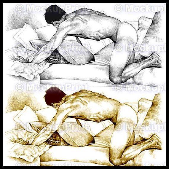 Nude men pin up