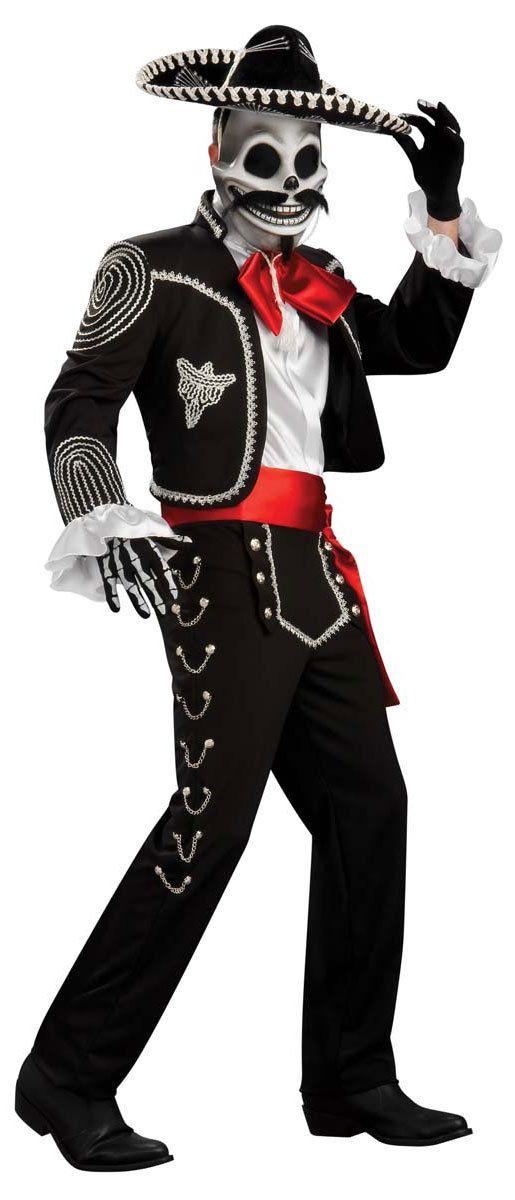 Grand Heritage El Senor Skeleton Adult Costume Skeleton Costumes - Mr. Costumes