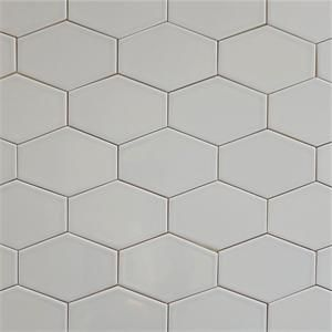 Gray Ceramic Stretched Hex Tile Silver Fox 5 X3 Hex Tile Modwalls Hexagon Tiles
