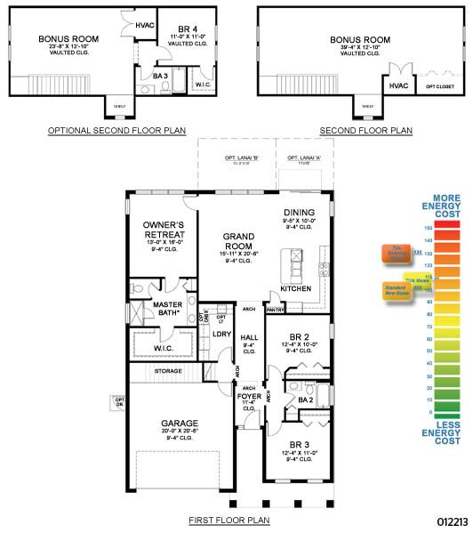 Homes by WestBay Sanderling II Floorplan- Add in the covered Lanai and Bedroom upstairs and this is our retirement home.