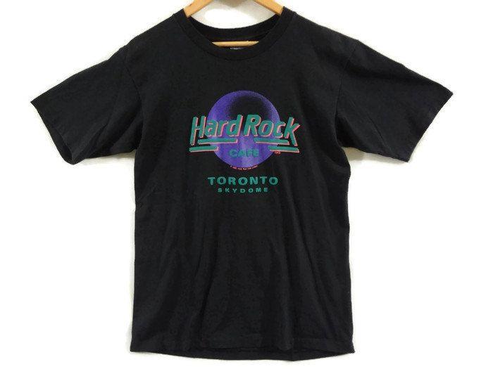 3a2ca255 Vintage 1989 Hard Rock Cafe Toronto Skydome Tee - Medium - 80s Clothing -  Grunge - Pastel - Ontario - 80s Vintage Clothing - Tdot - by BLACKMAGIKA on  Etsy