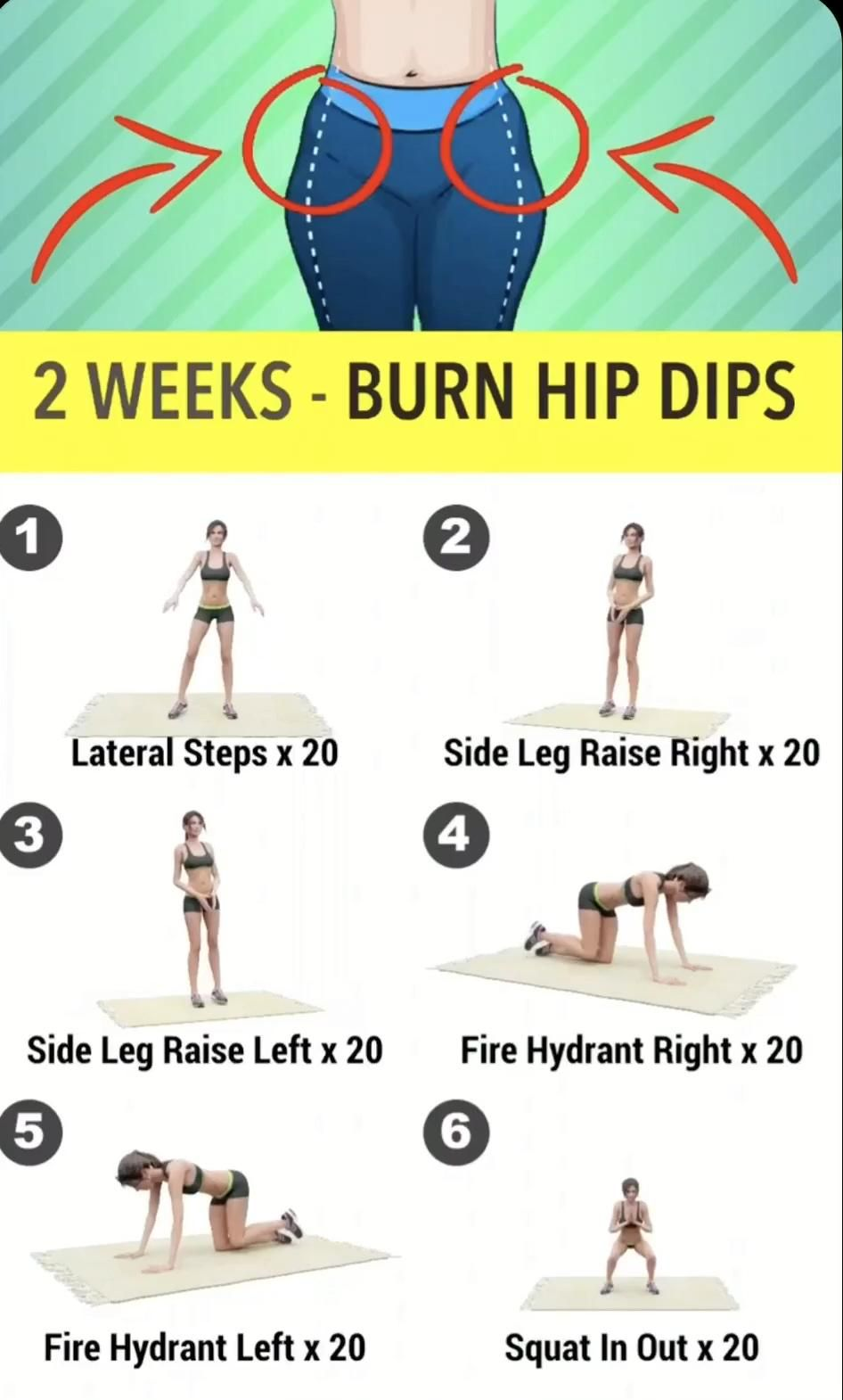 Hip dips Do this workout to get rid of hip dips #h