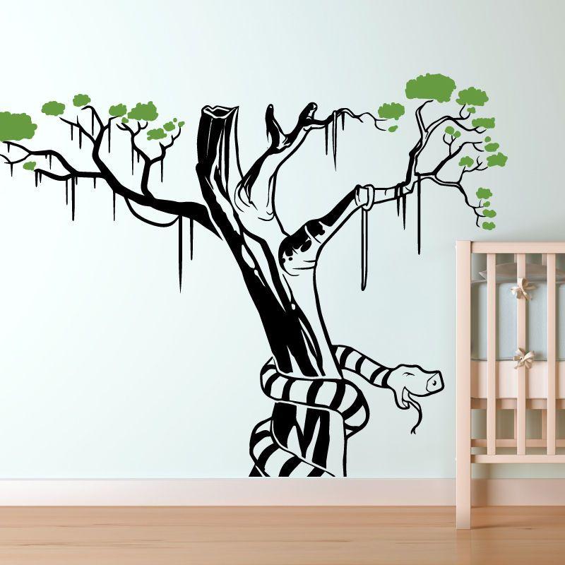 snake wall sticker art decal jungle forest theme kids bedroom decor