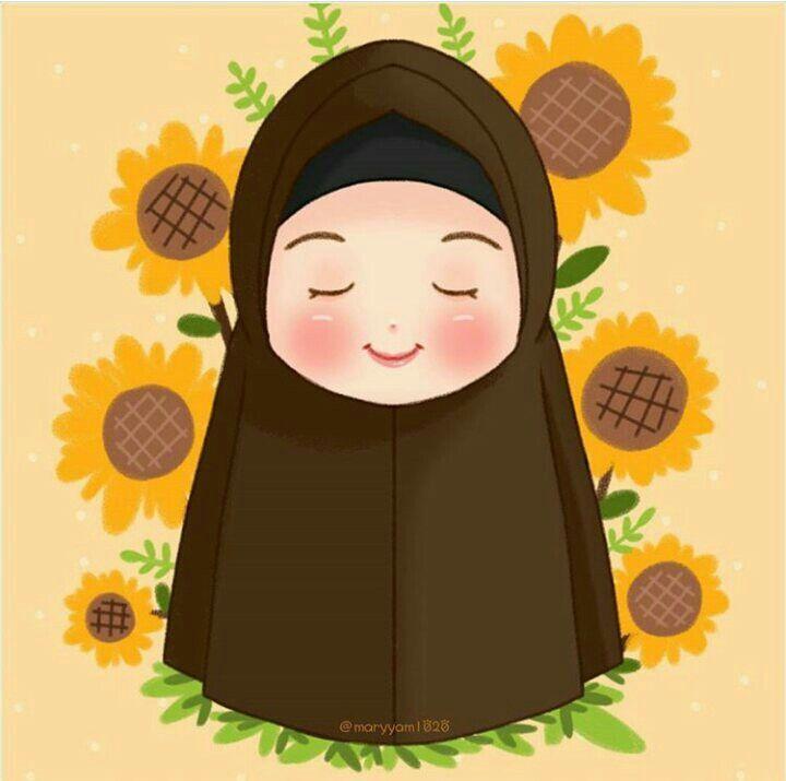 Kartun Muslimah Cinta Al Quran Seni Ilustrasi Ilustrator Menggambar Gadis