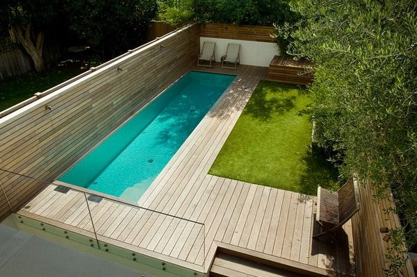 14 piscinas peque as de obra ideas de piscinas para patios peque os jard n - Piscinas pequenas de obra ...