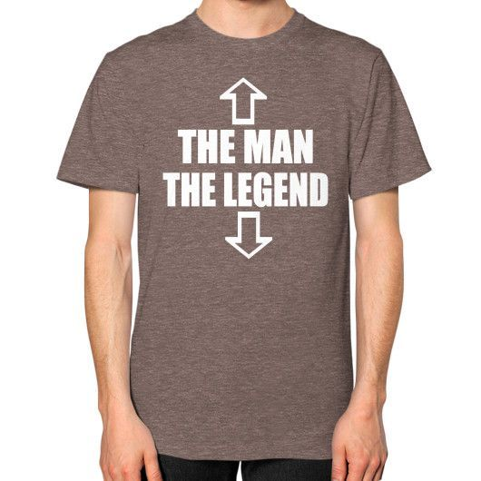 The Man the Legend Unisex T-Shirt (on man)