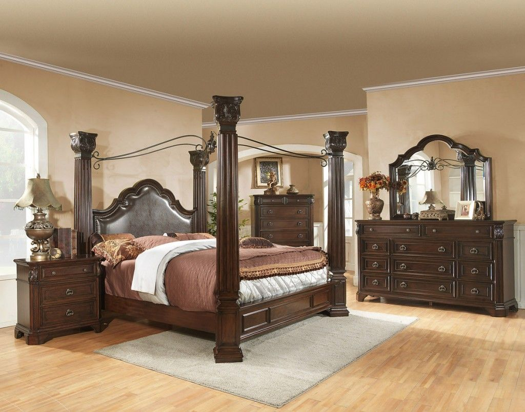 king size canopy bedroom sets - King Canopy Bed Frame