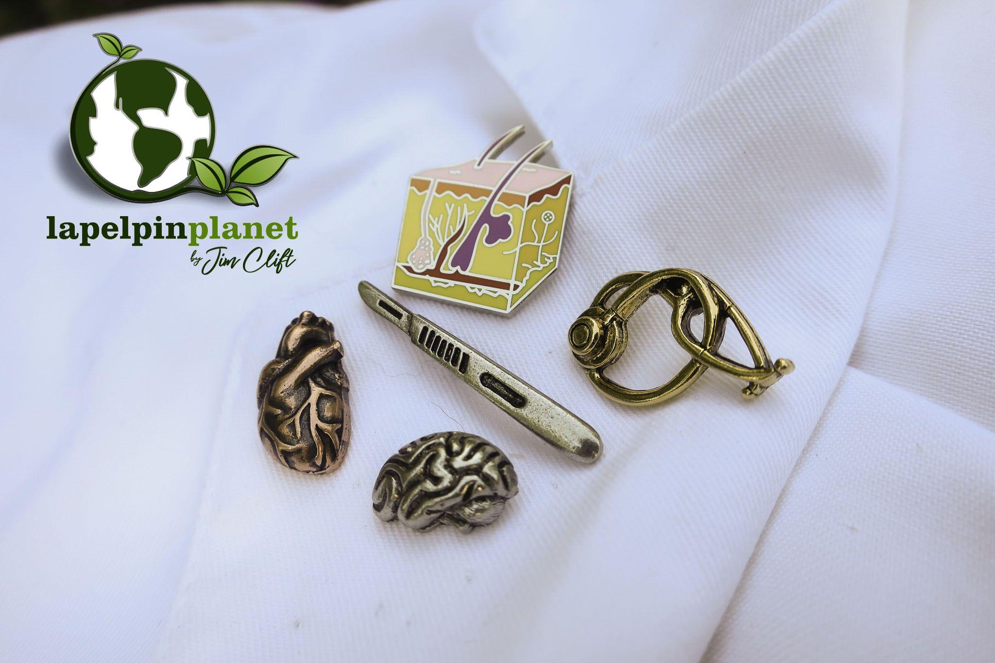 Jim Clift Design Kayak Lapel Pin