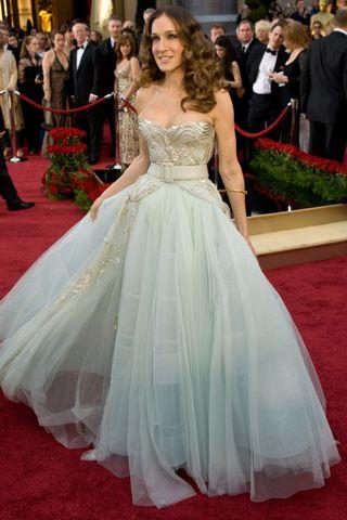 Sarah Jessica Parker y un vestido estilo princesa de Christian Dior ...