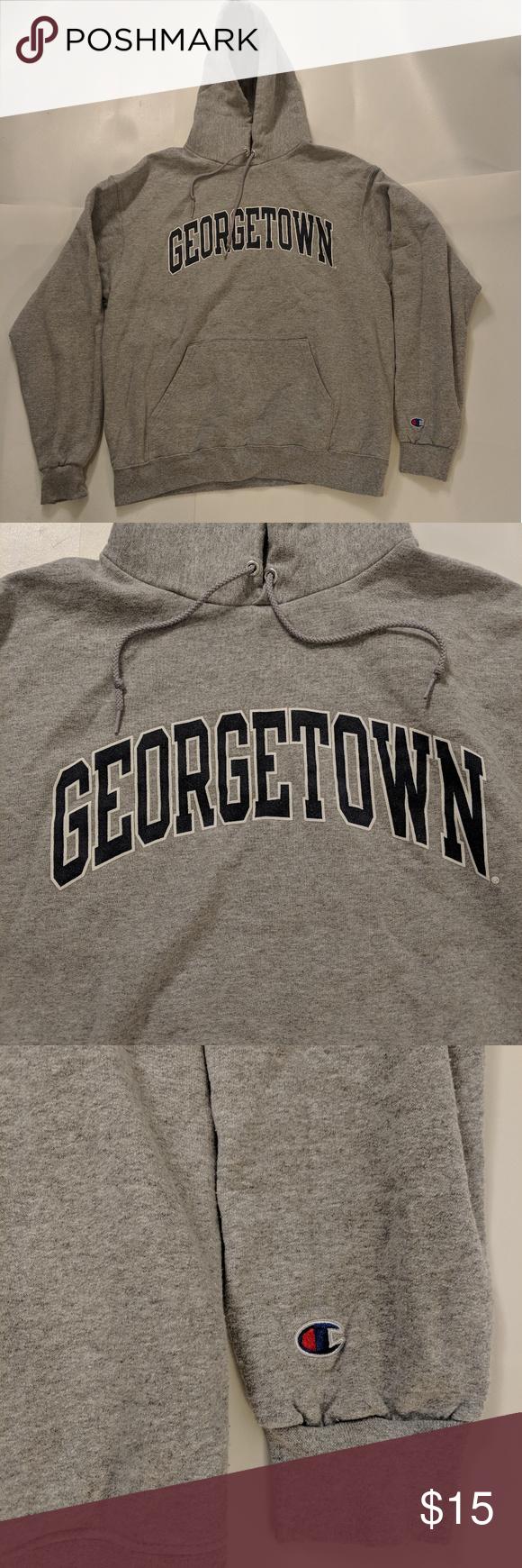 Georgetown Champion Eco Hoodie Sweatshirt Sz L Georgetown Hoyas Champion Eco Hoodie In Very Good Pre Owned Con Sweatshirts Sweatshirts Hoodie Sweatshirt Shirt [ 1740 x 580 Pixel ]