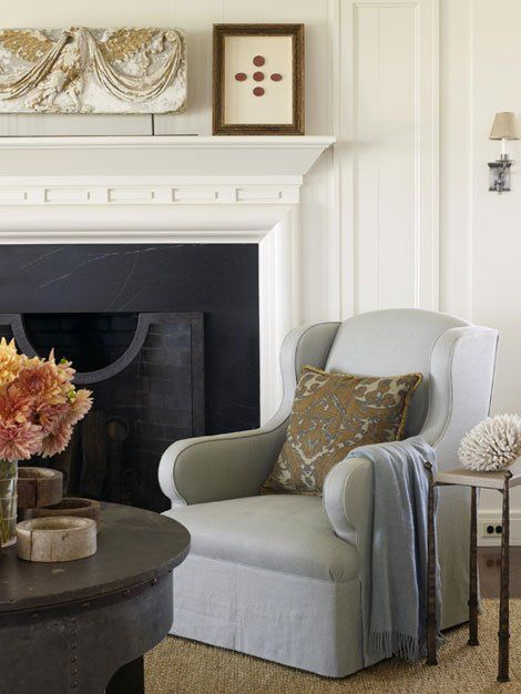 Single Chair Fireplace Surrounds Home Decor