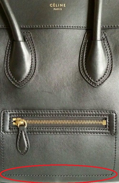 How to distinguish real vs fake Celine bags  066e9e62cd464