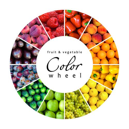 You Can Tell a Food by its Color! | Color wheels