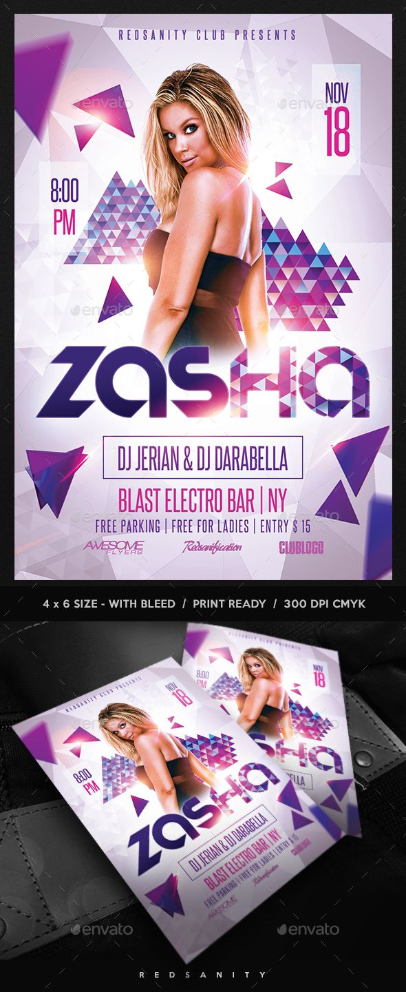 guest dj flyer featuresvery easy to edit photoshop template