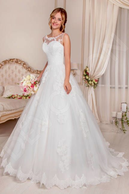 Photo of Aspasie Classic Lace Chantilly Wedding dress Ivory | Devotio…