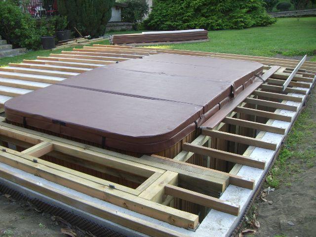 encastrer un spa recherche google spa pinterest piscine. Black Bedroom Furniture Sets. Home Design Ideas