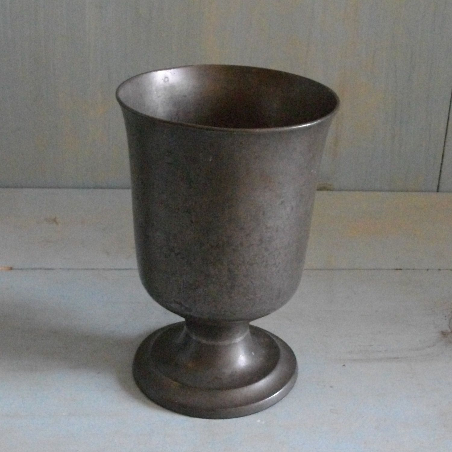 Antique Pewter Communion Chalice Or Goblet 1830s Thomas