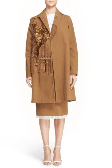 'Aude' Ruffle Accent Coat by N21 on @nordstrom_rack