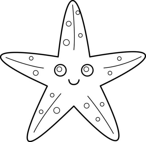 Starfish With Big Eye Coloring Page Jpg 600 583 Starfish