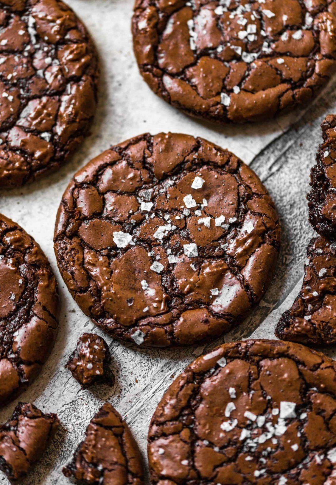 Fudgy Brownie Crinkle Cookies
