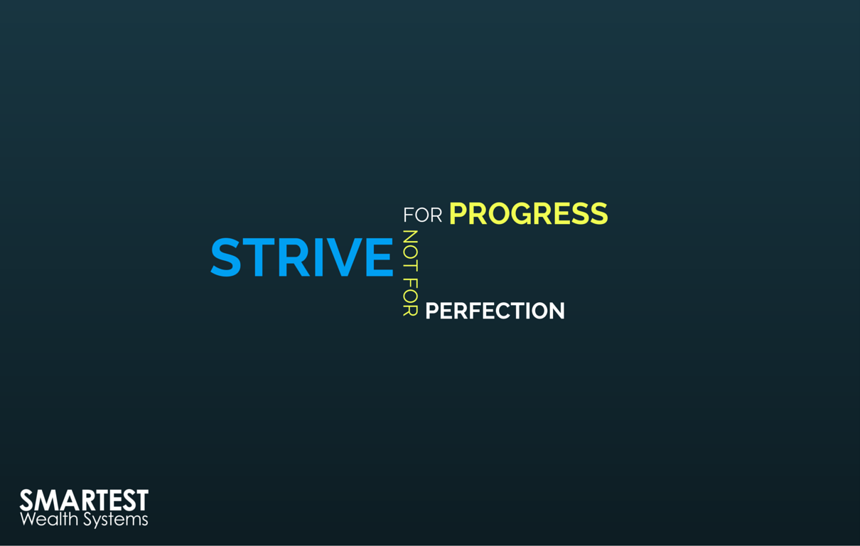 You don't have to be perfect, just aim for progress! #GoodAdvice