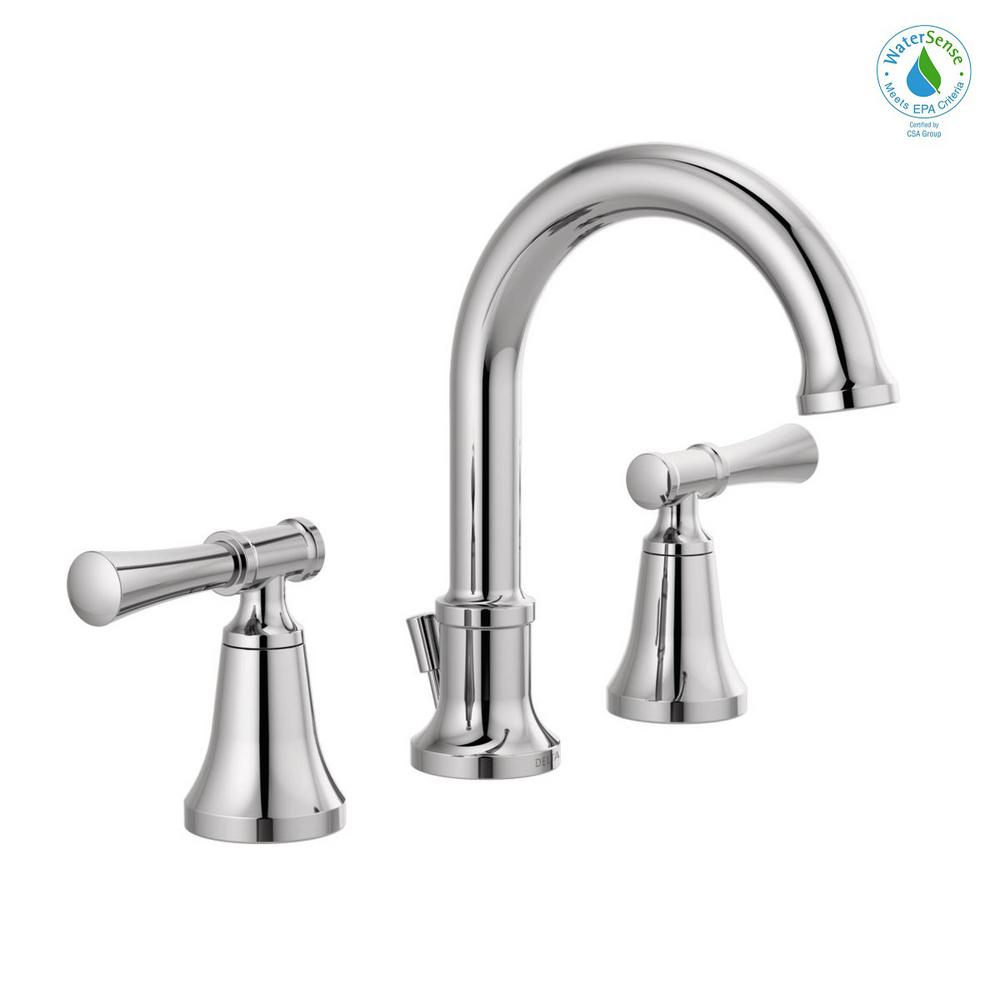 Delta Chamberlain 8 In Widespread 2 Handle Bathroom Faucet In Chrome 35747lf The Home Depot Bathroom Faucets Chrome Bathroom Fixtures Faucet [ 1000 x 1000 Pixel ]