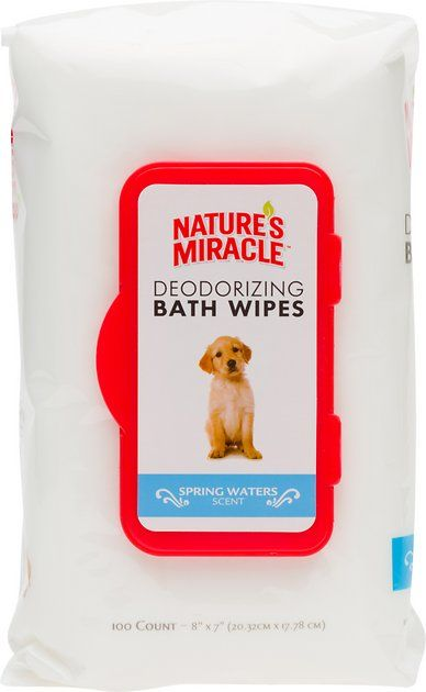 Nature S Miracle Spring Waters Deodorizing Bath Wipes Are The