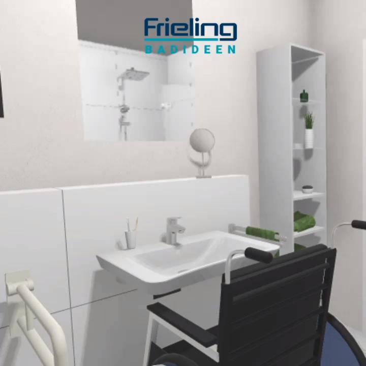 Eine Andere Variante Des Badezimmers Finden Sie Auf Unserer Homepage Wo Sie Auch Direkt Einen Termin Vereinbaren Kon Video In 2020 Barrierefrei Bad Badezimmer Grundriss Bad