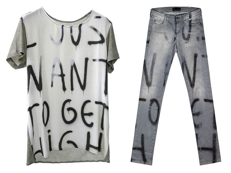 Robert Montgomery sweatshirt and jeans for EACH OTHER