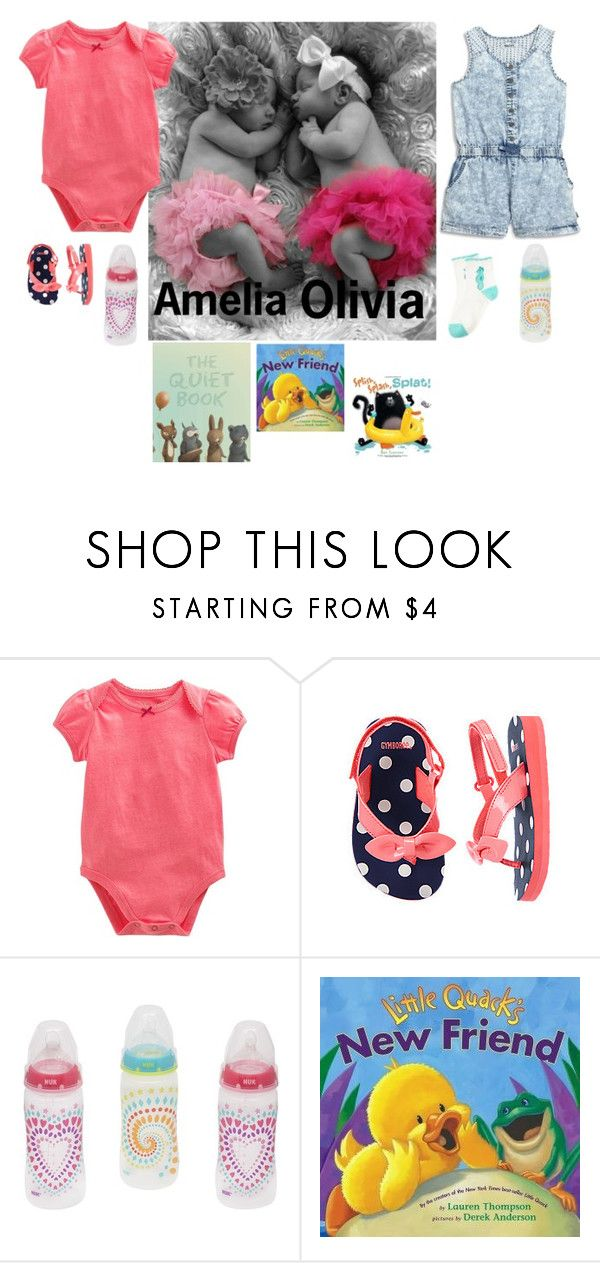 """""""OOTD// Amelia and Olivia"""" by promise-the-dinosaur ❤ liked on Polyvore featuring interior, interiors, interior design, home, home decor, interior decorating, DKNY, Gymboree, Nook and HarperCollins"""