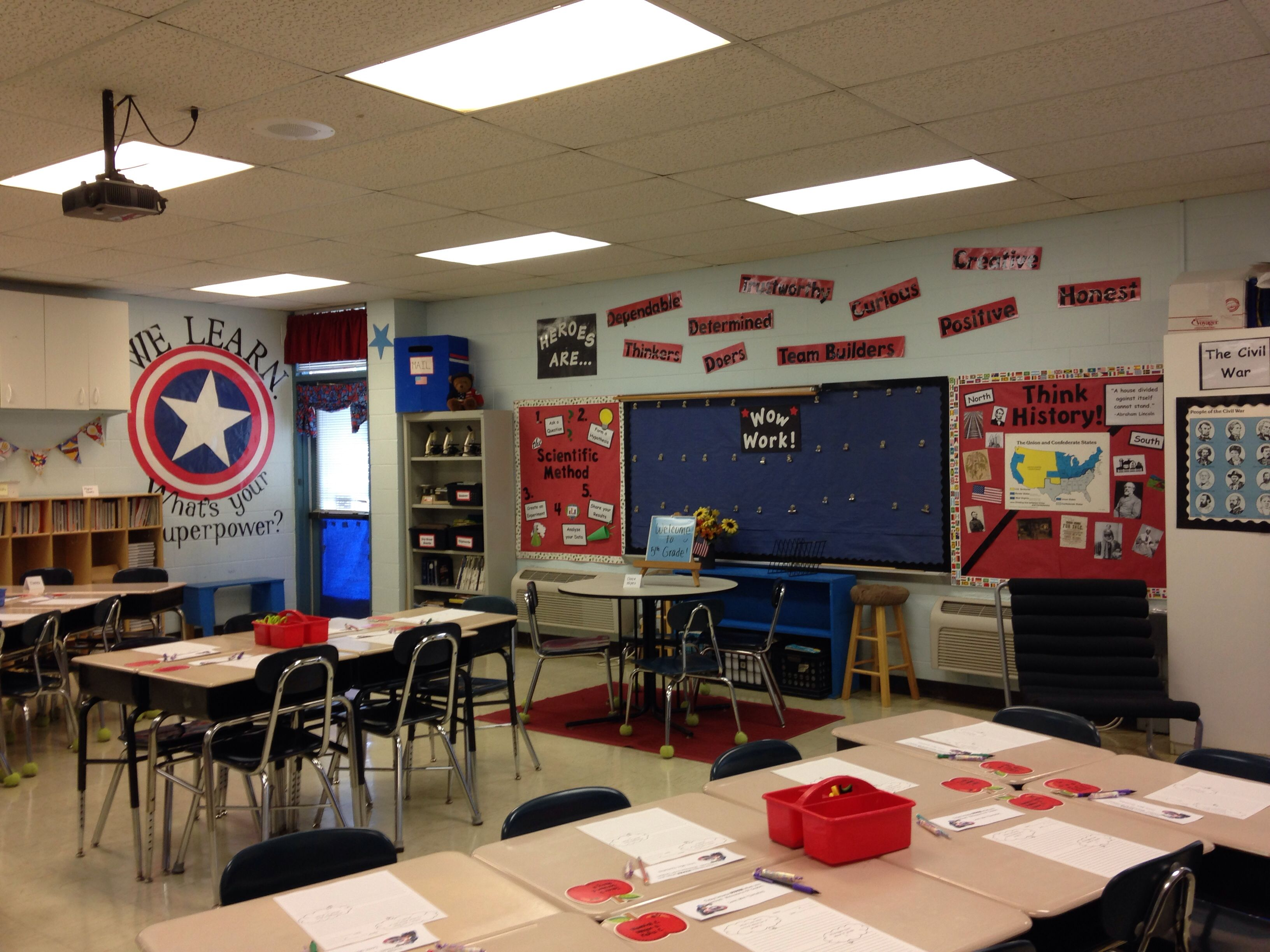 Super Heroes Decor For Classroom ~ My classroom captain america theme teaching