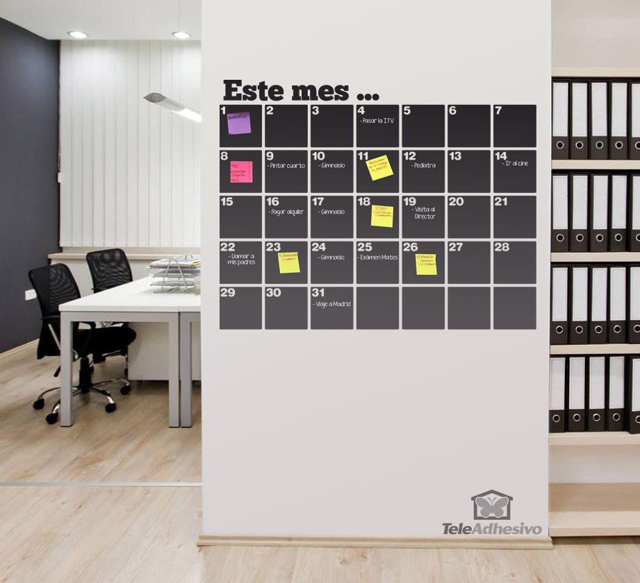 Vinilos decorativos pizarra calendario organizador for Vinilos decorativos oficina