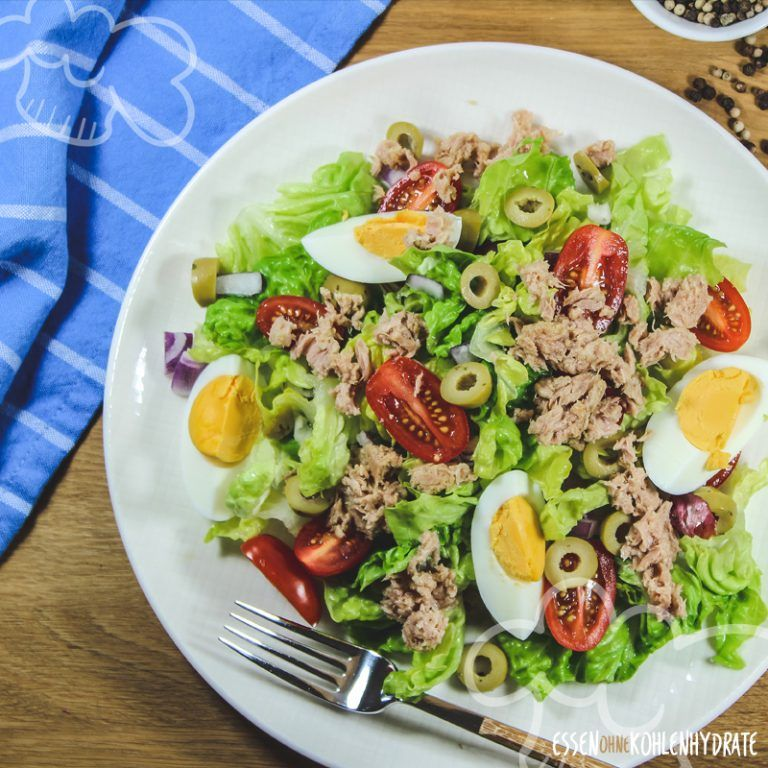 Salat mit Thunfisch und Ei #homemadefajitaseasoning
