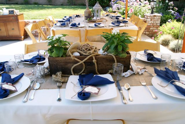 Whit Mitt Events Nautical Centerpiece Dinner Decoration Dinner Themes