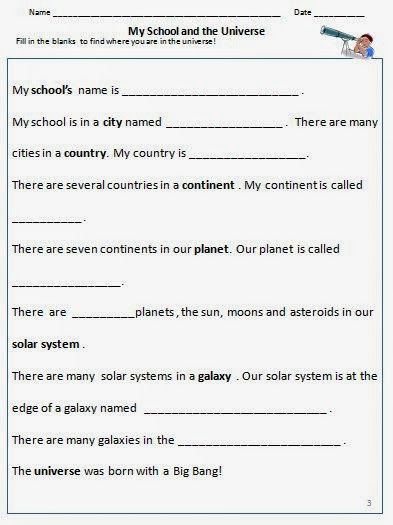 happy learners teaching about the universe to an eight year old grade 3fourth gradesolar system planetsworksheets8 - Printable Activities For 8 Year Olds