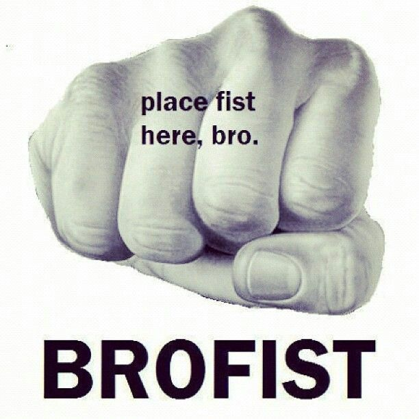 Words... place fist here bro